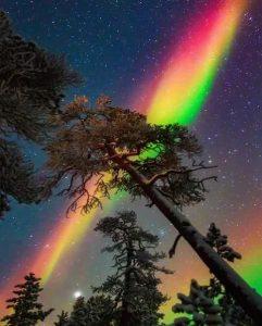 arco iris con estrelals